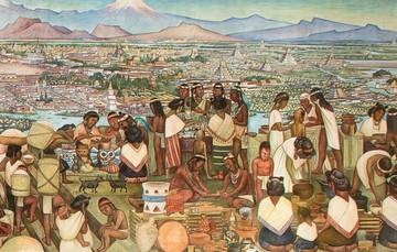 El tianguis de Tlatelolco.