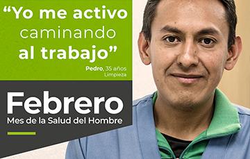 """""""Yo me activo caminando al trabajo!, Pedro, 35 años. Limpieza"""