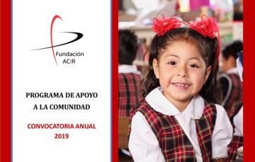Invitación a participar en la Convocatoria Anual 2019 de Fundación ACIR