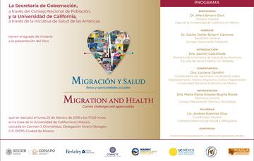 Presentación del libro de Migración y Salud. Retos y Oportunidades Actuales