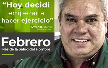 """""""Hoy decidí empezar hacer ejercicio"""", Armando, 51 años. Administrativo."""