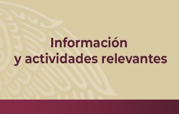 Información y actividades relevantes