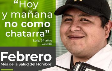 """""""Hoy y mañana no como chatarra"""", Luis, 24 años, Guardia"""