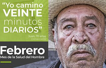 """""""Yo camino VEINTE minutos DIARIOS"""", Juan. 70 años, Comerciante"""