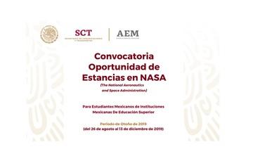 Publica AEM Convocatoria para Estancias de Investigación en NASA