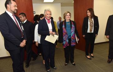 La Secretaria de Gobernación, Olga Sánchez Cordero, acudió a la toma de protesta de la nueva presidenta del Instituto Nacional de las Mujeres