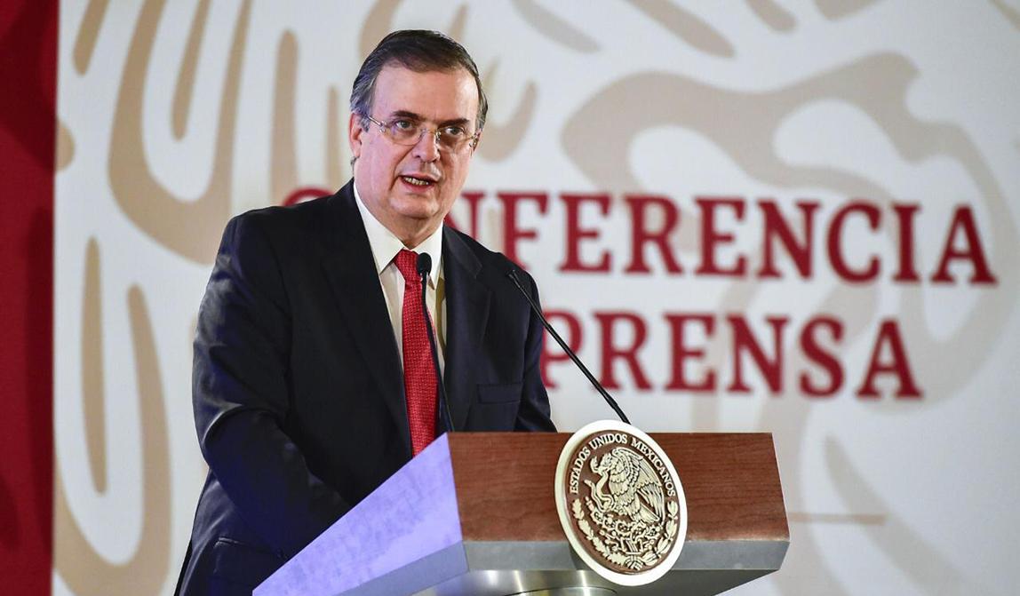 El canciller Marcelo Ebrard presenta la estrategia de protección al migrante del Gobierno de México en Palacio Nacional
