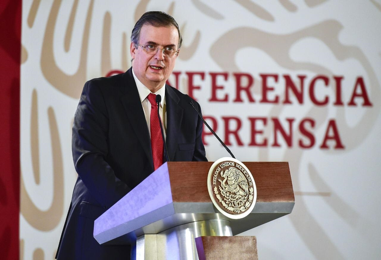 Foreign Secretary Marcelo Ebrard presents the Mexican government's Migrant Protection Strategy