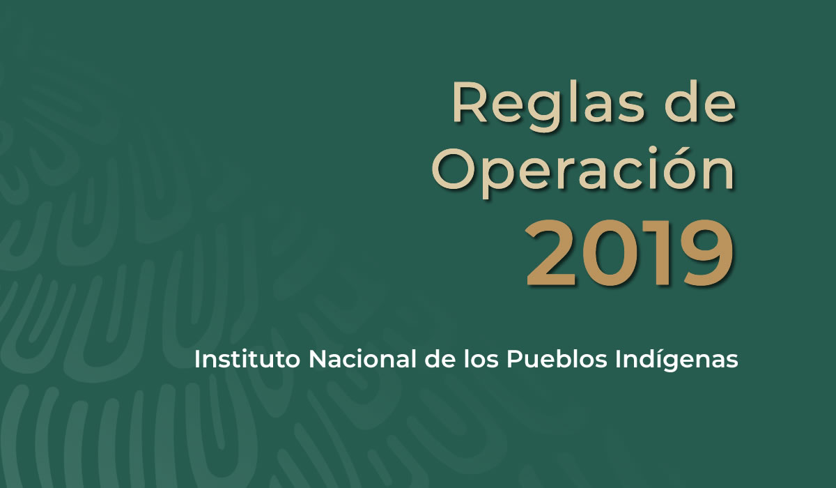 Reglas de Operación 2019 de los Programas del Instituto Nacional de los Pueblos Indígenas.