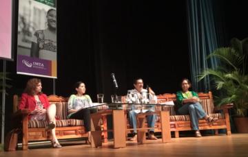 Mesa redonda con la participación de la Dra. Yolanda Pica, Mtra. Gemma Millán,  y Mtra. Jail Ixel Cruz, moderador Mtro. Alberto Rojas