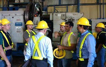 Participantes del curso especializado en rotores de turbinas geotérmicas que INEEL ofreció al ICE en Costa Rica.