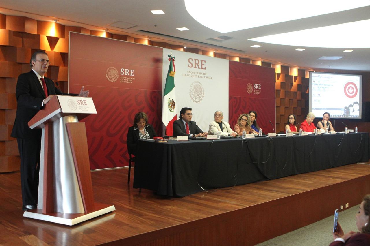 El canciller Marcelo Ebrard inaugura foro sobre derechos de las mujeres