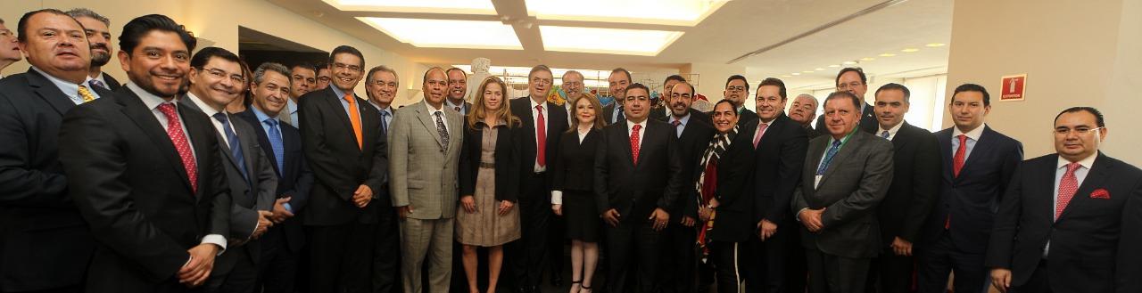 Se reúne el canciller con la Asociación Mexicana de Secretarios de Desarrollo Económico (AMSDE)