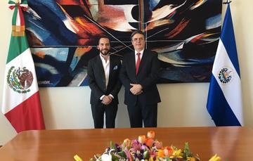 El canciller Marcelo Ebrard recibe visita del presidente electo de El Salvador, Nayib Bukele Ortez