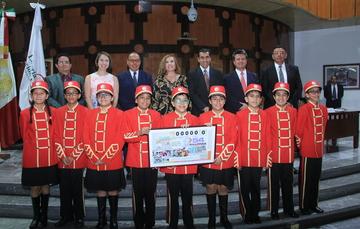 CIJ cumple 50 años y lo celebra con la emisión de un billete conmemorativo de la Lotería Nacional