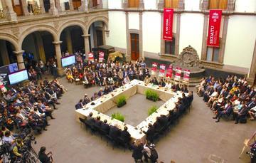 100 días de gobierno, presentación del Grupo de Asesores Estratégicos (GAES) en el Museo de la Ciudad de México.