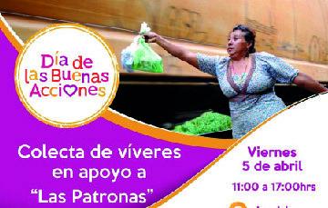"""Invitación a participar en colecta de víveres en apoyo a """"Las Patronas"""""""