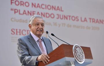 Presidente Andrés Manuel López Obrador durante la Clausura del Foro Nacional 'Planeando Juntos la Transformación de México'