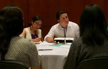 Samuel Torres Méndez, director general adjunto del Imjuve, participa en el foro nacional rumbo al PND.