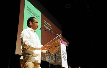 En la ceremonia de clausura del Foro Estatal para la Integración del Plan Nacional de Desarrollo en Morelos, el Dr. Adrián Pedrozo Acuña, Director General de Instituto Mexicano de Tecnología del Agua reiteró su compromiso con la nueva sinergia entre el go