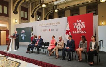 Ceremonia de arranque de la colecta 2019 de la Cruz Mexicana