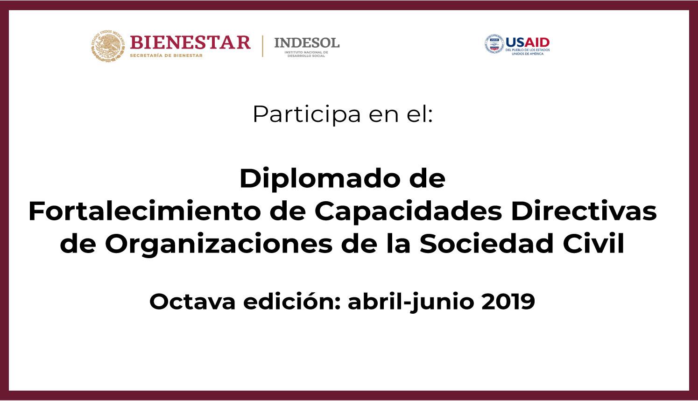 Banner Participa en el Diplomado de fortalecimiento de Capacidades Directivas de OSC