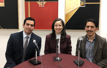 Emerson Segura, Liliana Padilla y Francisco Trejo