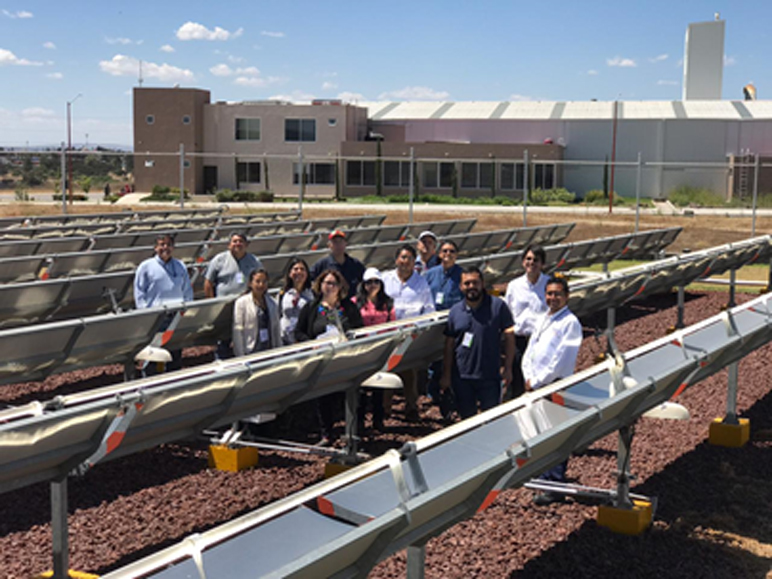 Visita a instalaciones de calor solar de proceso en la Ciudad de Guadalajara, Jalisco