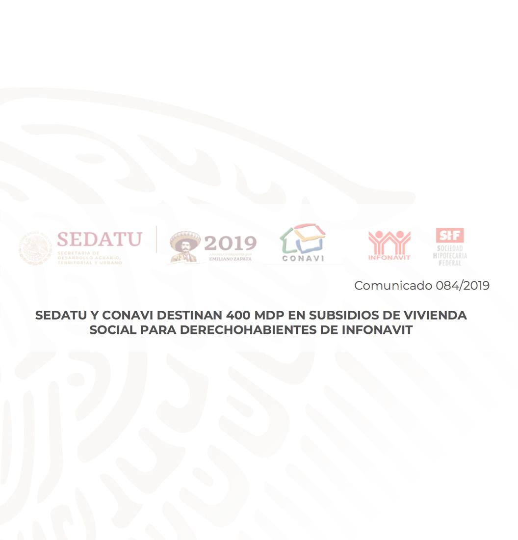 COMUNICADO DE PRENSA 084/2019