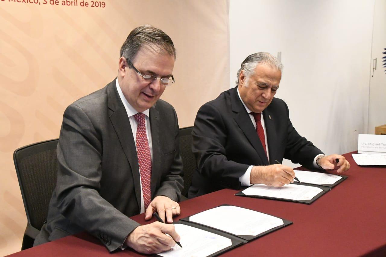 SECTUR y SRE firman Convenio de Colaboración sobre Promoción Turística