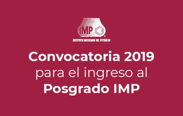Convocatoria IMP 2019 posgrado