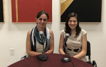 Cynthia Valdés Galicia y María Paulina Rivera