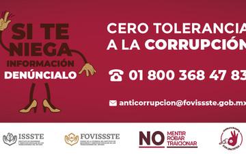 Inicia campaña Anticorrupción en el FOVISSSTE