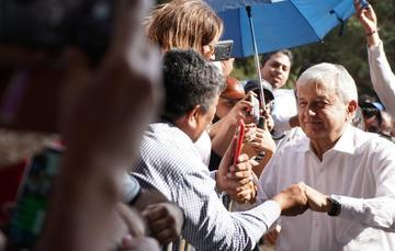 El presidente de México, Andrés Manuel López Obrador, en Zacapu, Michoacán.