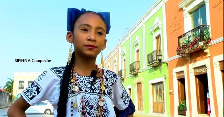 Niña de Campeche.