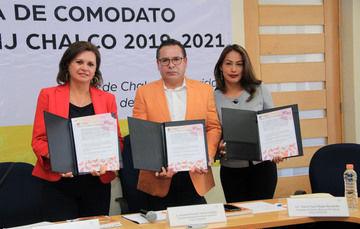 Firma de convenio entre el DIF Valle de Chalco Solidaridad y CIJ