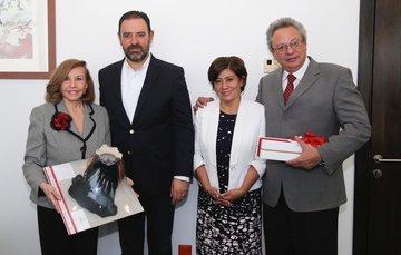 Se reúne la Sra. Kena Moreno con el Gobernador de Zacatecas