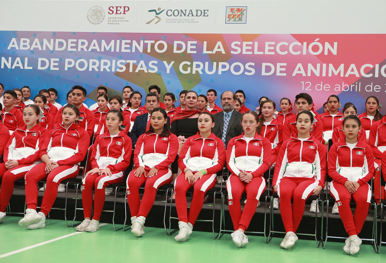 La selección nacional la componen 252 elementos, que participarán en la modalidad de baile y porras.