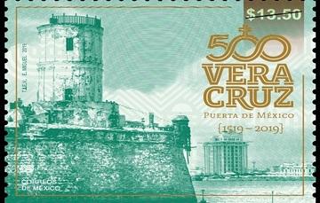 Correos de México celebra 500 años de la fundación de Veracruz