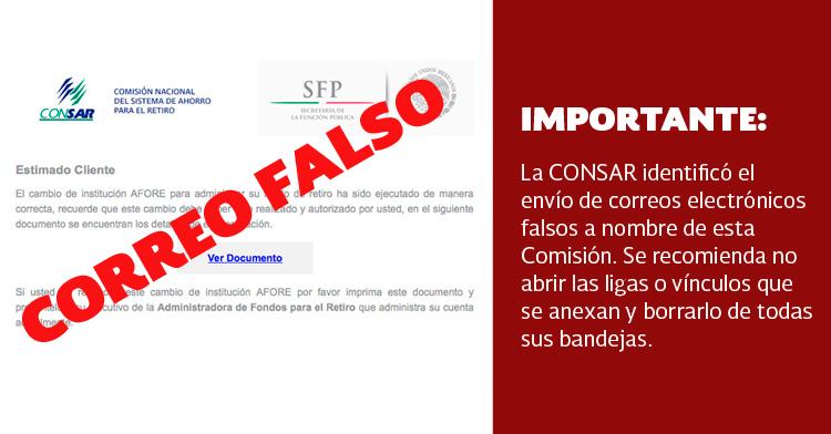 ¡IMPORTANTE!: Alerta de correo apócrifo