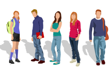 Ilustración de adolescentes