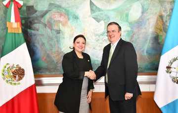 El secretario Marcelo Ebrard se reúne con su homóloga de Guatemala, para abordar temas de la agenda bilateral y regional