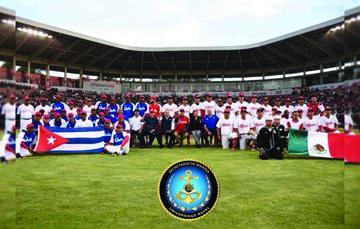Encuentro de beisbol entre la Selección de la Secretaría de Marina – Armada de México y la Sección Nacional de Cuba en el Estadio Fray