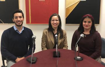 Ricardo Smith, Liliana Padilla y Romina Clamont