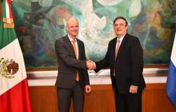Secretary Marcelo Ebrard meets with Netherlands Foreign Minister Stef Blok