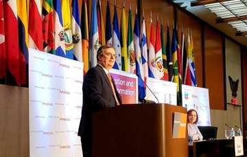 El secretario de Relaciones Exteriores Marcelo Ebrard participó en la 49a Conferencia del Consejo de las Américas