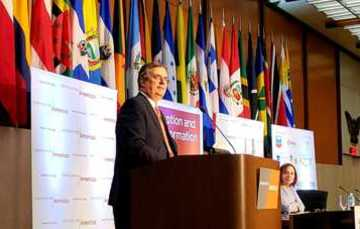 Foreign Secretary Marcelo Ebrard speaks at 49th Washington Conference on the Americas