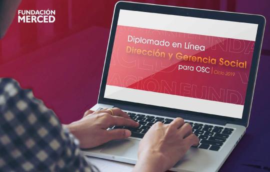 Banner Fundación Merced Invita a Diplomado en Línea Dirección y Gerencia Social para OSC