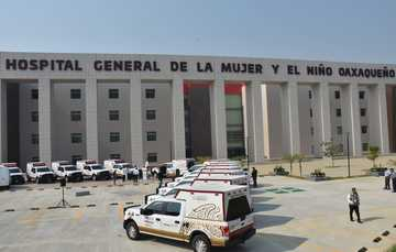 Fachada de Hospital General de la Mujer y el Niño Oaxaqueño.