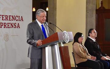 El Presidente de México, Andrés Manuel López Obrador, durante su conferencia de prensa.